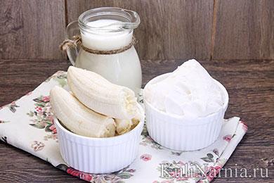 Банановый коктейль с молоком состав