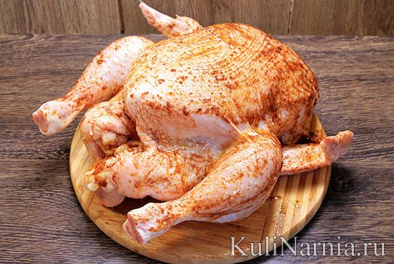 Курица в рукаве в духовке рецепт