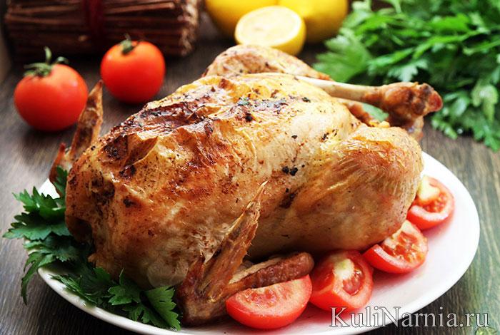 курица с яблоками в рукаве духовке рецепт