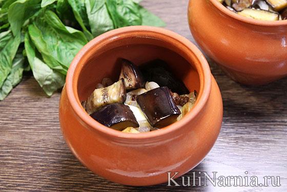 Рецепт чанахи с баклажанами