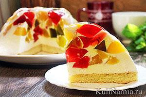 Торт Битое стекло рецепт с фото
