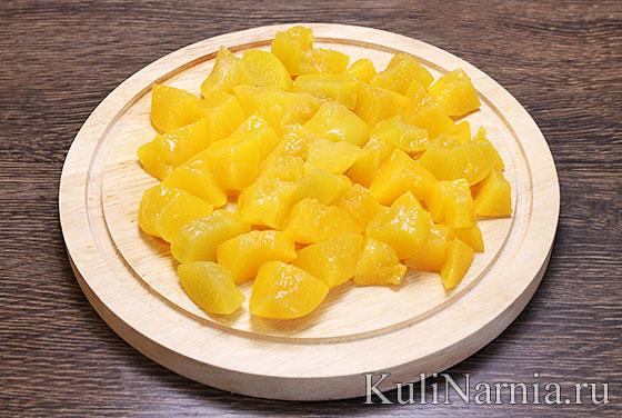 Торт Битое стекло с персиками