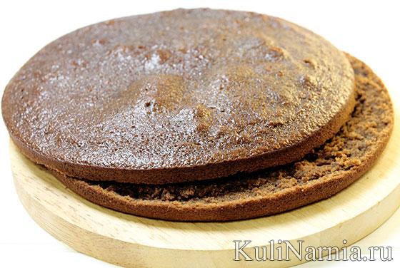 Бисквит для торта Сникерс
