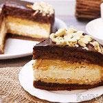 Торт «Сникерс» с безе