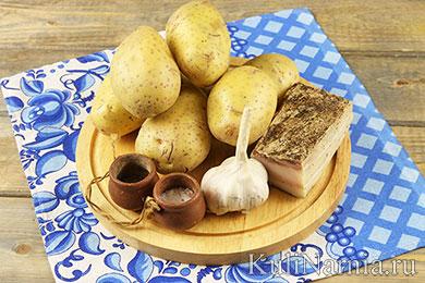 Картошка с салом в фольге в духовке рецепт