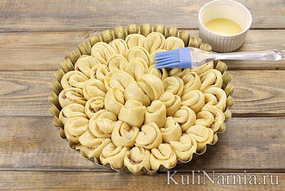 Пирог Хризантема с фаршем рецепт