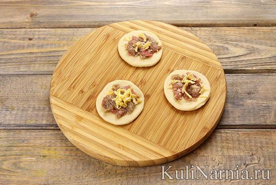 Пирог с мясом Хризантема рецепт с фото