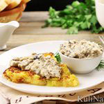 Картофель решти с грибным соусом