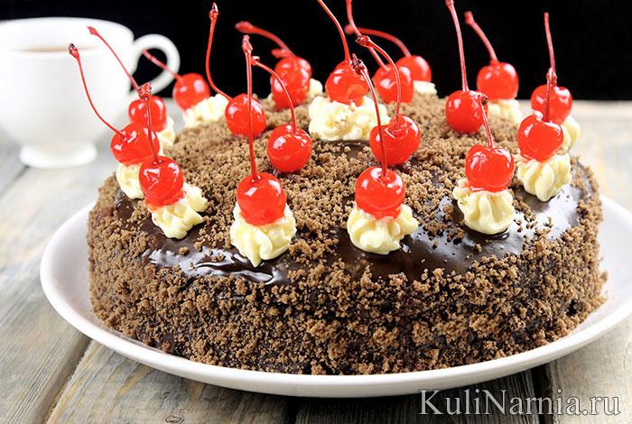 Торт Пьяная вишня пошаговый рецепт с фото