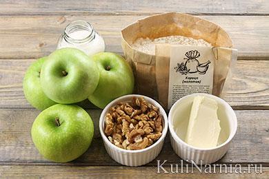 Яблочный крамбл простой рецепт с фото