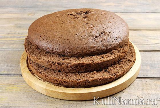 Бисквит для торта Черный лес