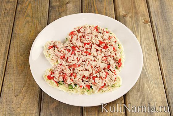 Как приготовить салат Варежка