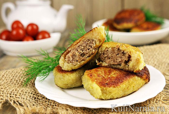 Колдуны из картофеля с фаршем
