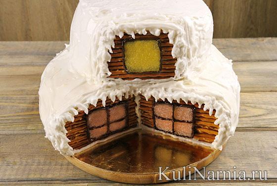 Двухъярусный торт Избушка