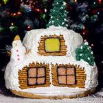 Двухъярусный торт «Зимняя избушка»