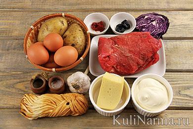 Салат Снегурочка рецепт с фото