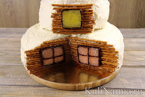 Торт двухъярусный Избушка