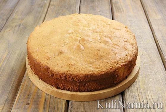Бисквитный пирог с фото