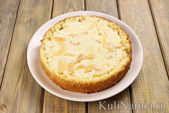Бисквитный пирог со сметаной рецепт