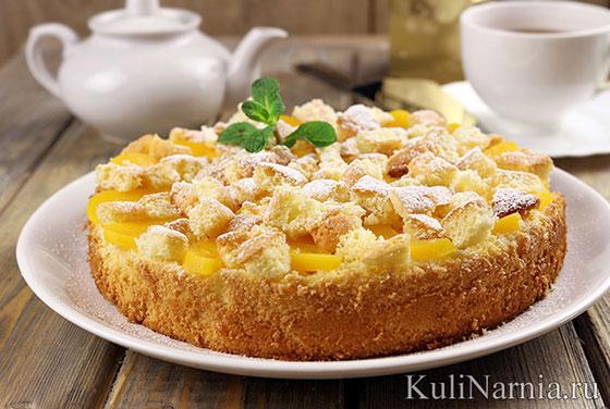 Бисквитный пирог со сметаной