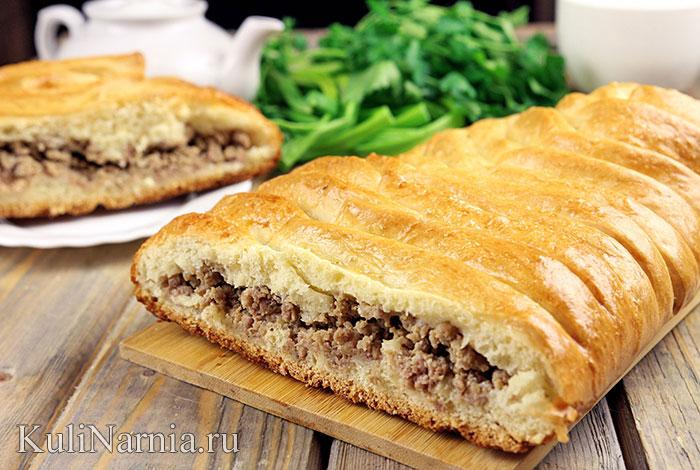 Кулебяка с мясом рецепт