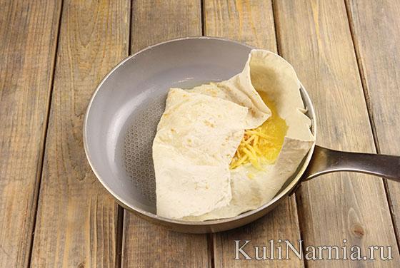 Ека с яйцом и сыром рецепт