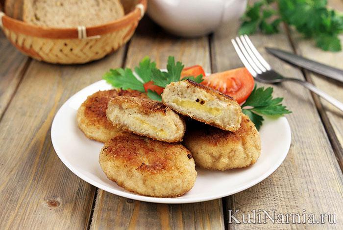 Куриные котлеты с сыром рецепт