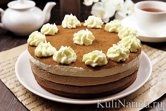 Муссовый торт три шоколада