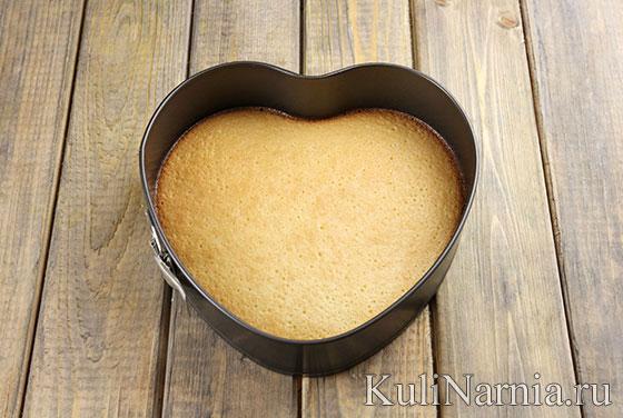 Торт сердце из крема