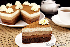 Торт Три шоколада рецепт