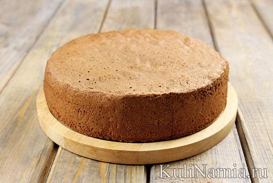 Бисквит для торта Ферреро Роше