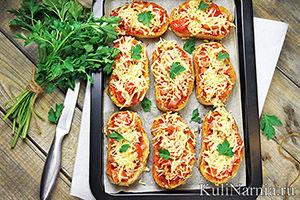 Мини-пицца на батоне рецепт