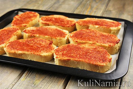 мини пицца на батоне рецепт с фото в духовке пошаговый рецепт