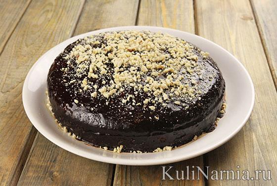 Постный шоколадный торт с фото