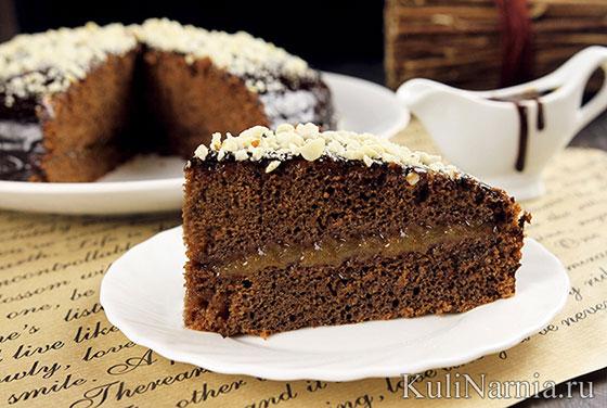 Постный шоколадный торт