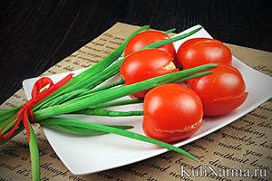 Салат Тюльпаны на 8 марта