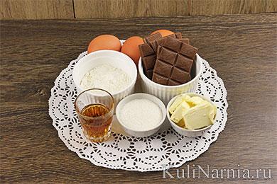 Шоколадный фондан с фото
