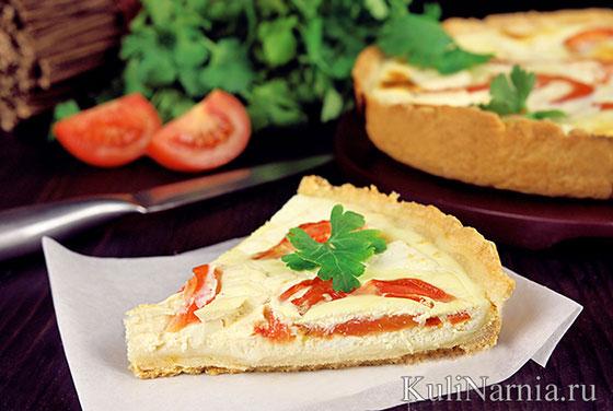 Пирог с помидорами и брынзой