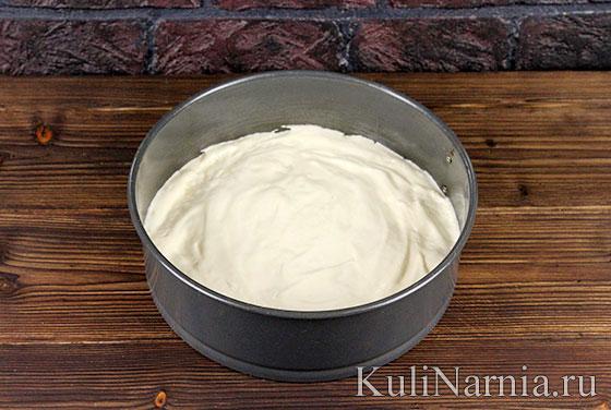 Бисквит для творожно-йогуртового торта