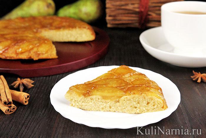 Грушевый пирог в карамели