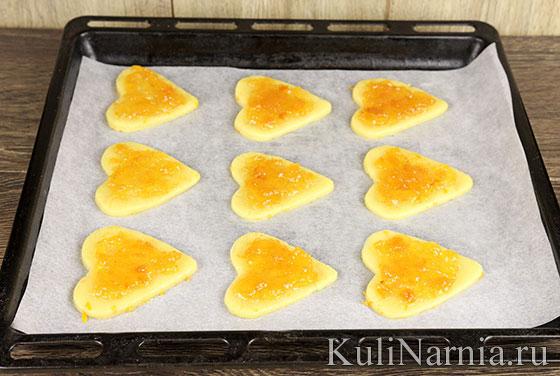 Как испечь песочное печенье с повидлом