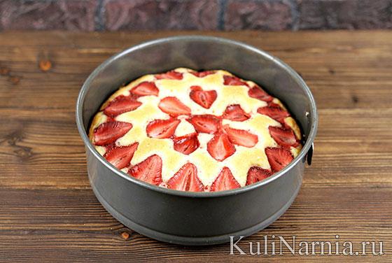 Рецепт пирога с клубникой с фото