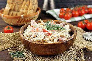 Салат с курицей грибами сыром
