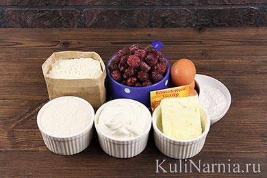 Пирог с вишней и сметанной заливкой рецепт