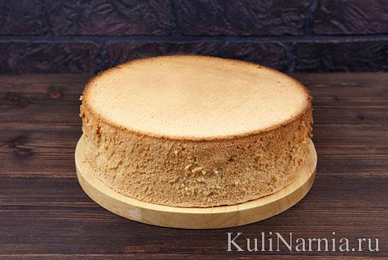 Бисквит для лимонного торта