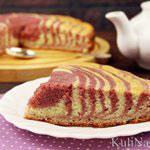 Малиновый пирог «Зебра»