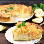 Тарт с яблоками и заварным кремом