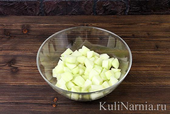 Тертый яблочный пирог с фото