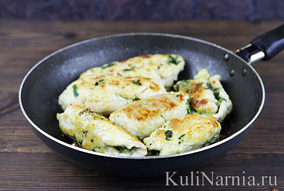 Как приготовить курицу со шпинатом