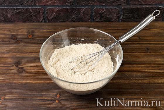 Пирог с черникой и творогом рецепт